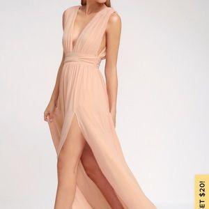 Lulus bridesmaid dress , blush pink
